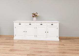 weißes Sideboard Landhausstil mit Türen und Schubladen