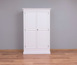 Massivholz Kleiderschrank weiß