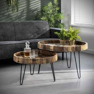 Couchtisch 2er Set aus Recycling-Holz Münster